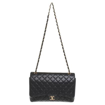 "Chanel ""Maxi Double Flap Bag"" van kaviaar leder"