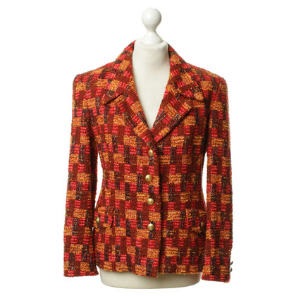 Escada Patterned Tweed Blazer