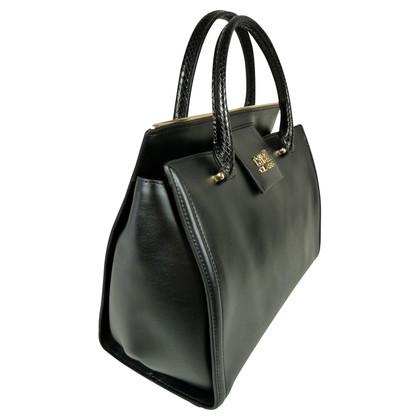 Roberto Cavalli Black smooth leather