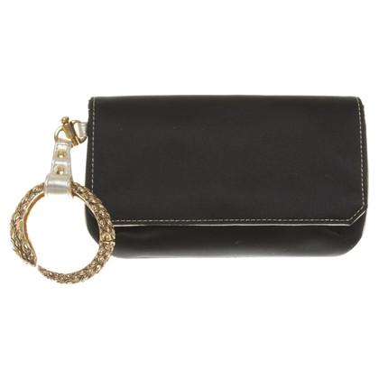 Roberto Cavalli clutch in black