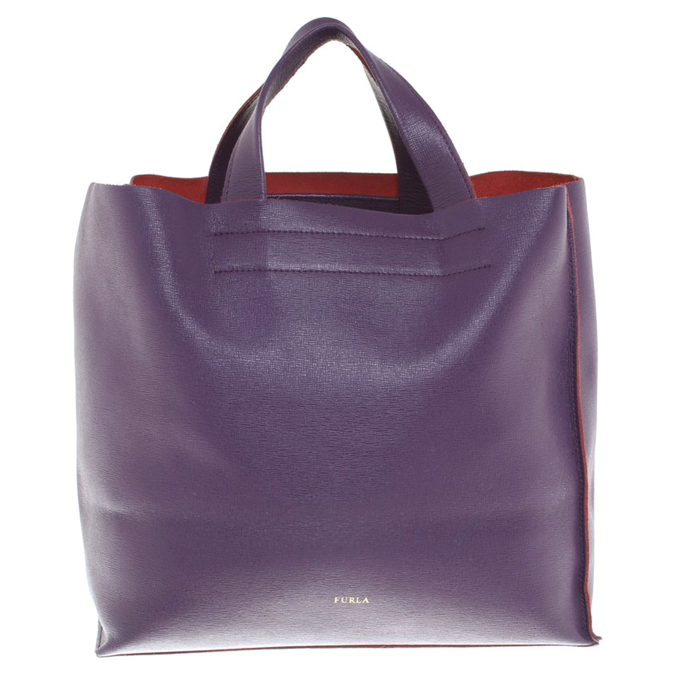 furla handtasche in violett second hand furla handtasche. Black Bedroom Furniture Sets. Home Design Ideas