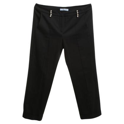 Blumarine Pantaloni con applicazioni di strass