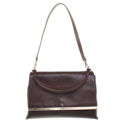 Carolina Herrera Handtasche in Bordeaux/Braun