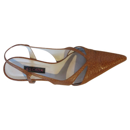 Escada pumps en cognac