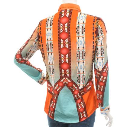 Etro Zijden blouse met patroon