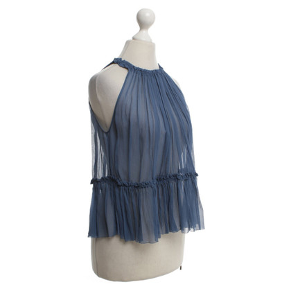 Dorothee Schumacher Silk top in blue
