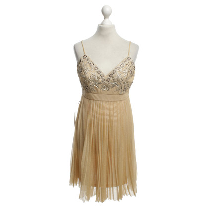 Sue Wong Gold color cocktail dress