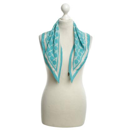 Loro Piana Silk scarf in turquoise