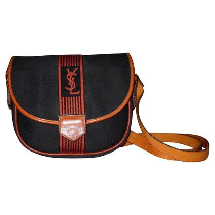 Yves Saint Laurent Shoulder bag fabric and leather vintage
