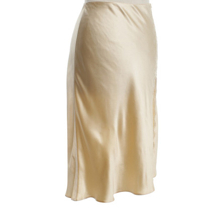 Blumarine Silk skirt with lace insert