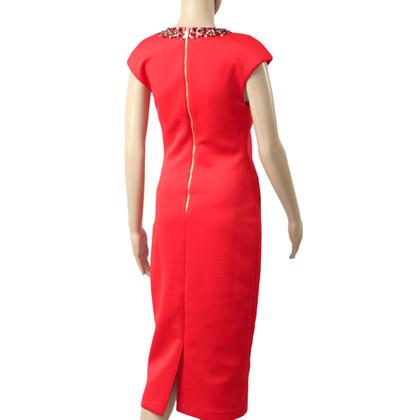 Ted Baker Midi-Kleid in Rot