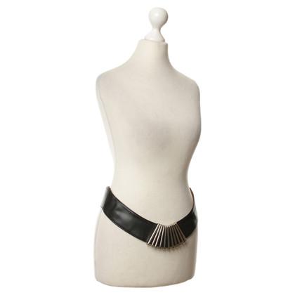 Karl Lagerfeld Cintura in pelle con dettaglio in metallo