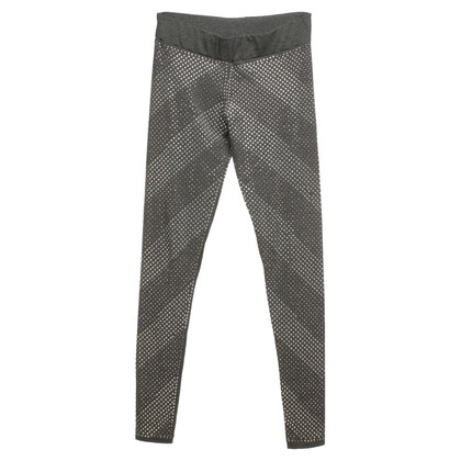 Philipp Plein Gray leggings with rhinestones