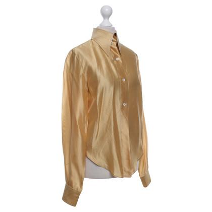Dolce & Gabbana Silk blouse in gold