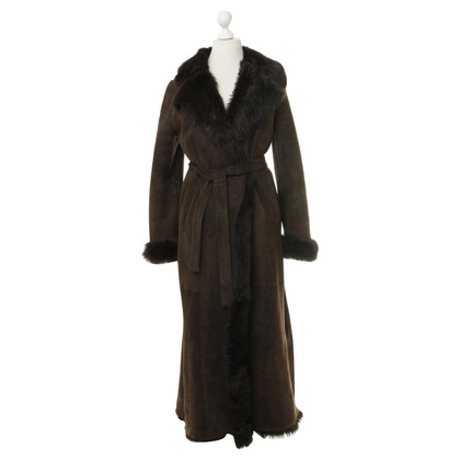 Aida Amoretti Aida Amoretti - leather coat with fur lining