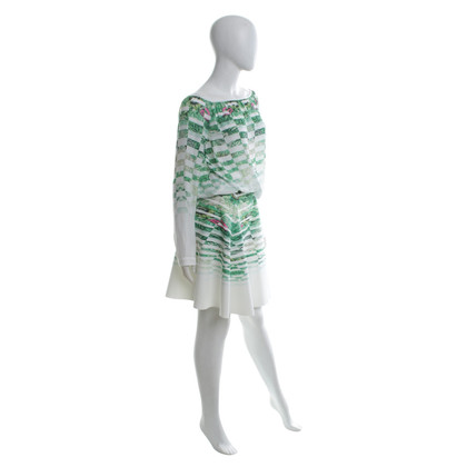 Patrizia Pepe skirt and blouse in white / green