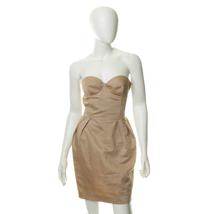 Stella McCartney Abito bustier in beige