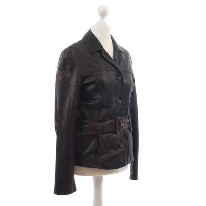 "Hugo Boss ""Lay-D"" brown leather jacket"