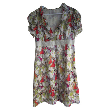 Ted Baker Silk dress with vintage Print