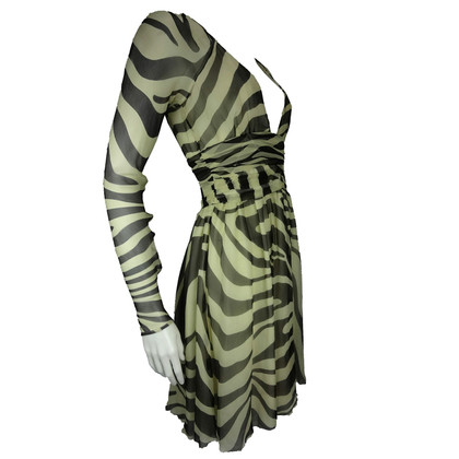 Alessandro Dell'Acqua zijden zebra print jurk