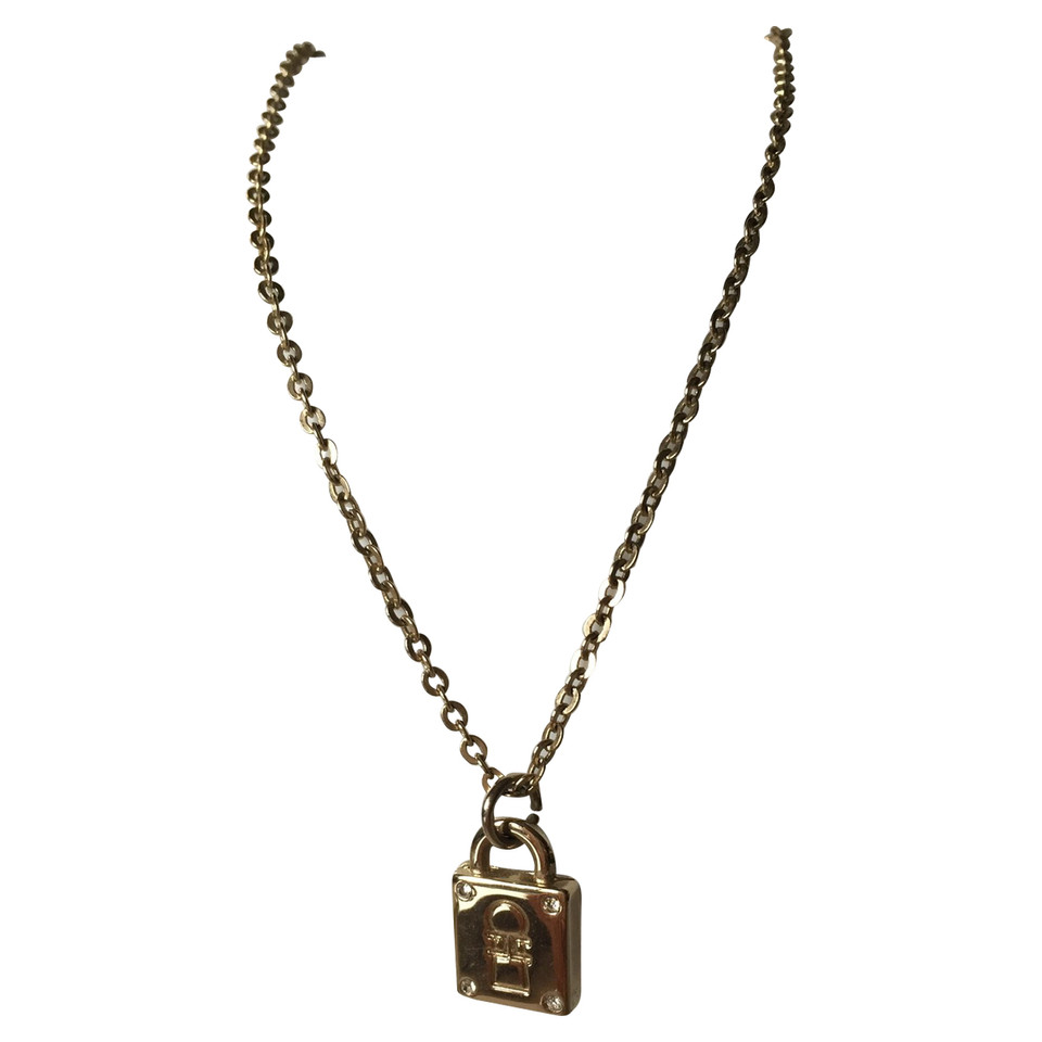 Elisabetta Franchi Necklace with lock pendant