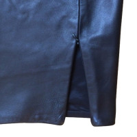 Blumarine Leather skirt in black