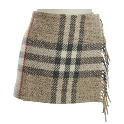 Burberry Wool miniskirt with checked pattern