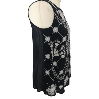 French Connection Top with embroidery