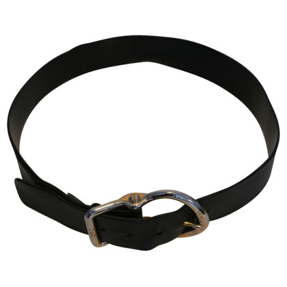 Dolce & Gabbana Leather belt with large buckle