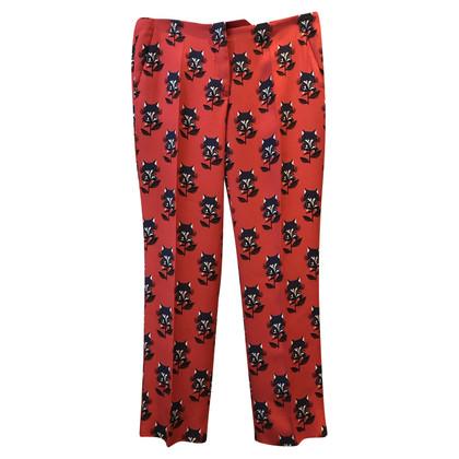Miu Miu trousers in orange