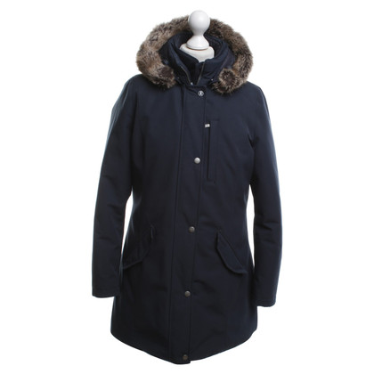 Barbour Parka in blu scuro