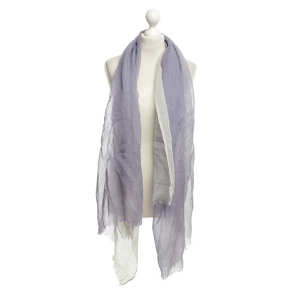 Armani Woven scarf in lilac / Light Gray