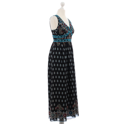 Anna Sui Silk dress with flower pattern