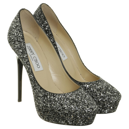 Jimmy Choo Pumps with glitter particles