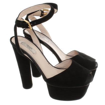 Prada  Wildleder Schuhe in Schwarz