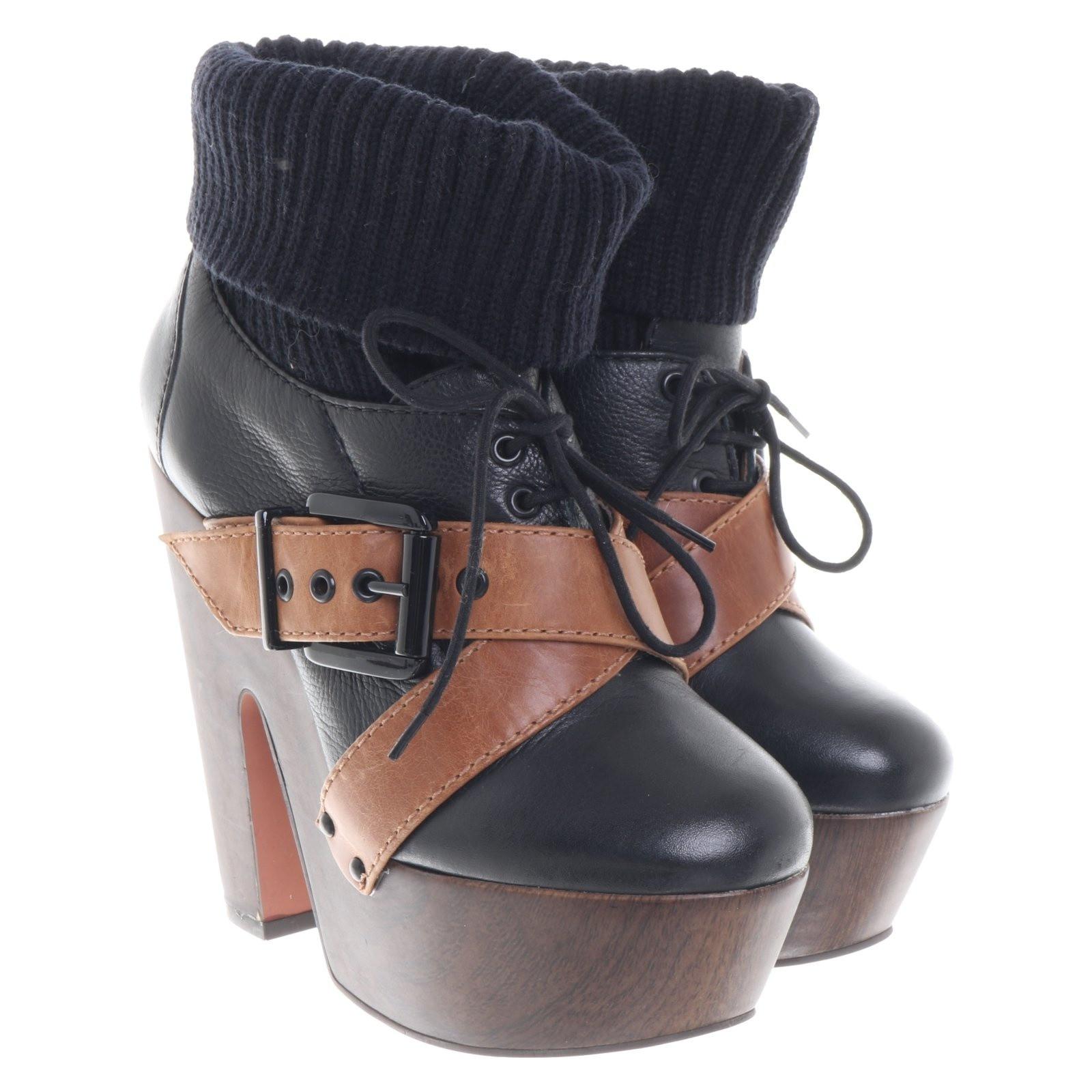 uk store pretty cool discount shop Kurt Geiger Ankle boots in black / brown - Second Hand Kurt Geiger ...