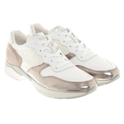 Tod's Sneakers da vernice e camoscio