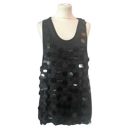 Lanvin Top in seta con paillettes