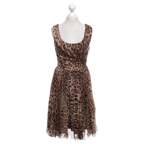 b8810e75 Dolce & Gabbana Silk dress with Leo print - Second Hand Dolce ...
