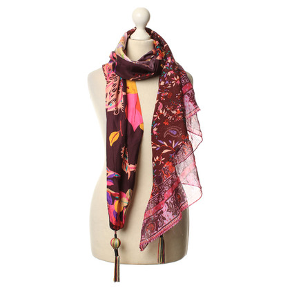 Christian Lacroix Colorful scarf with applications
