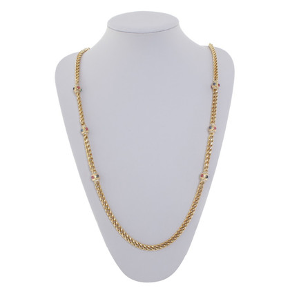 Christian Dior collier avec des pierres précieuses