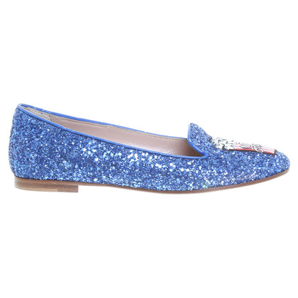 Chiara Ferragni Blue ballerinas with glitter