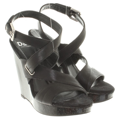 D&G Wedges in Schwarz