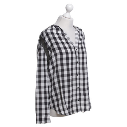 Sandro Blouse with check pattern