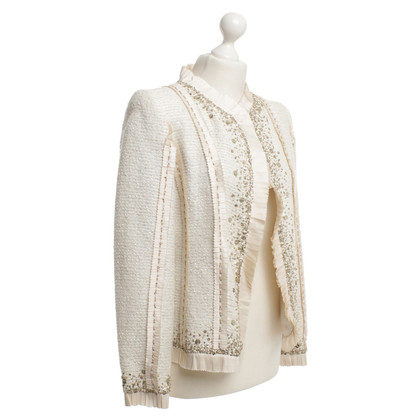 Oscar de la Renta Boucle jacket in cream white