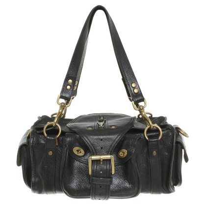 Mulberry Leather handbag in black
