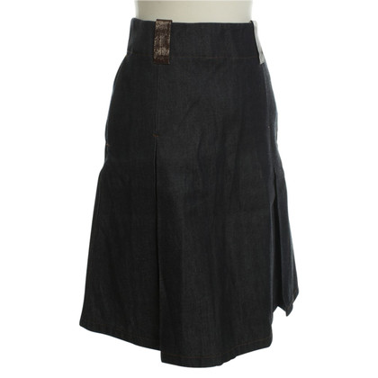 Acne Denim skirt with pleats