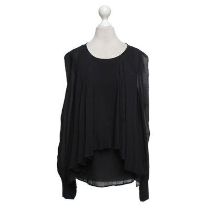 Plein Sud Flowing blouse in black