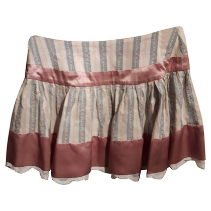 John Galliano Mini skirt silk and lace