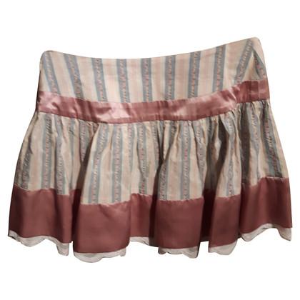 John Galliano Mini rok zijde en kant